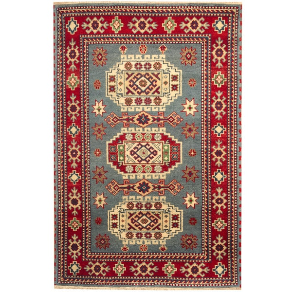 Herat Oriental Hand Tufted Wool Red Black Area Rug: Shop Handmade Herat Oriental Indo Kazak Wool Rug (India