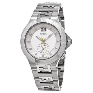 Fendi Men's F477160B 'High Speed' Silver Dial Stainless Steel Dual Time Swiss Quartz Watch