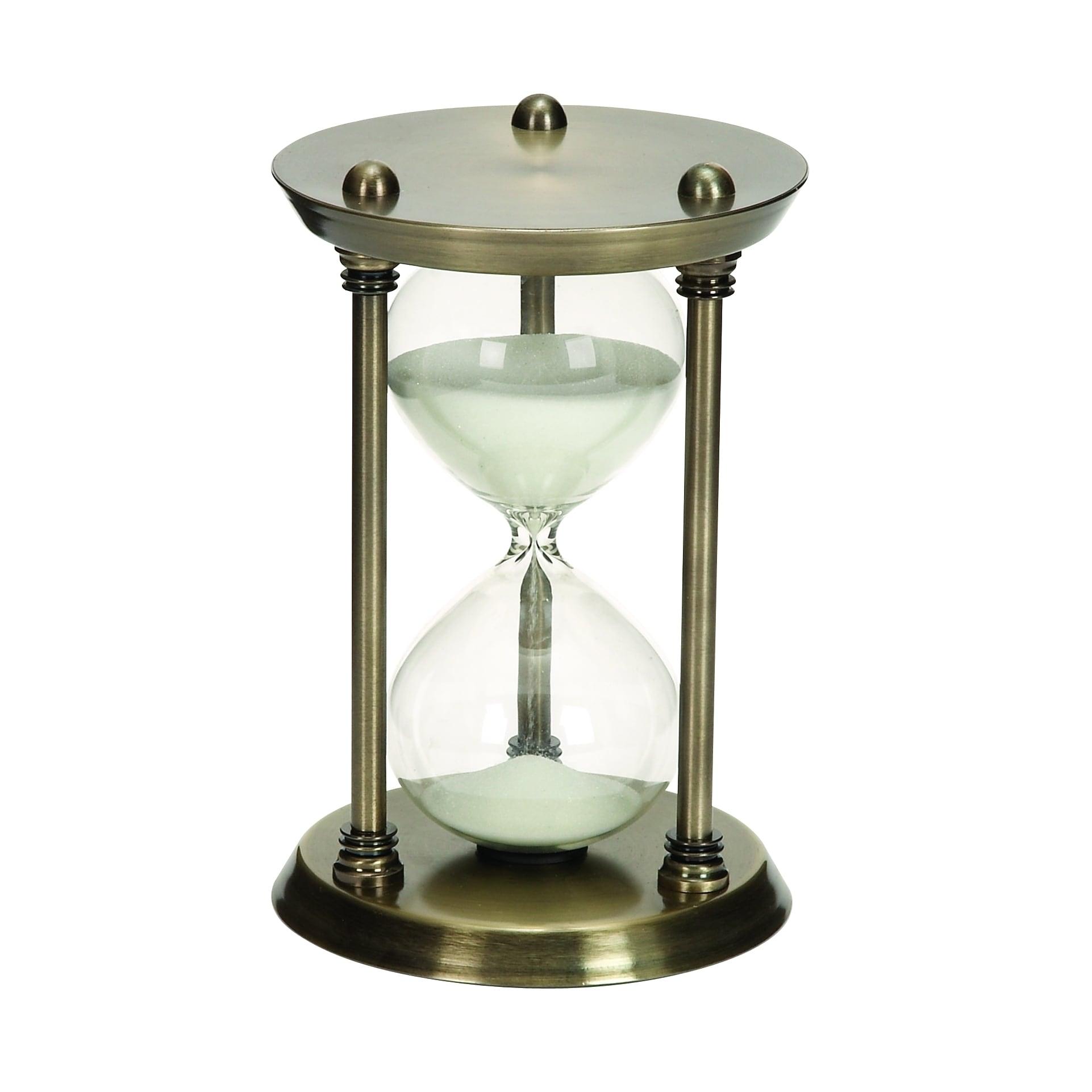 Benzara Metal/Glass 30 Minutes Hourglass Half Hour Nautic...