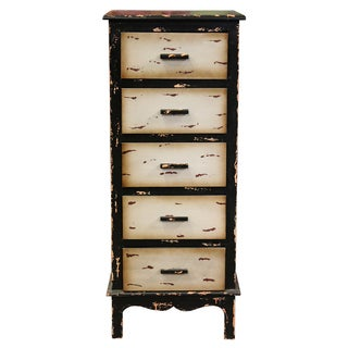 Interestingly Designed Vintage Themed 5 Drawers Storage Chest By Entrada