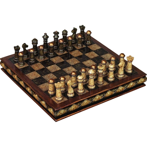 Polystone Chess Set - Great For Gift