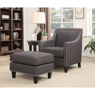 Picket House Emery Chair & Ottoman in Charcoal