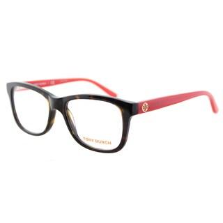 Tory Burch TY 2038 1213 Tortoise Pink Plastic Rectangle 52mm Eyeglasses