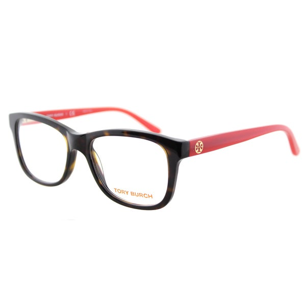 eb9b67ab9c Tory Burch TY 2038 1213 Tortoise Pink Plastic Rectangle 52mm Eyeglasses