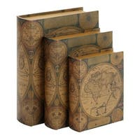 Maison Rouge Lamartine Beautifully Designed 3-piece Wood Leather Book Box