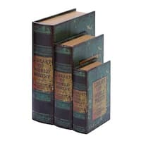 Gracewood Hollow Teters Faux Book Box Set With Library Of World Poetry Theme