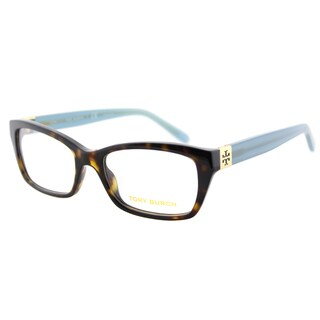 Tory Burch TY 2049 1359 Tortoise Milky Fountain Plastic Rectangle 51mm Eyeglasses