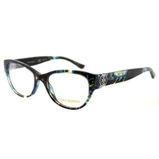 Tory Burch TY 2060 3145 Blue Tortoise Plastic Cat-Eye 50mm Eyeglasses