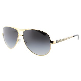 Tory Burch TY 6035 106R5 T-Print Aviator Gold Black Metal Aviator Grey Gradient Lens Sunglasses
