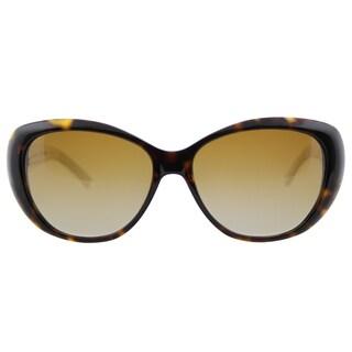 Tory Burch TY 7005 1327T5 Dark Tortoise Ivory Plastic Cat-Eye Brown Gradient Polarized Lens Sunglasses