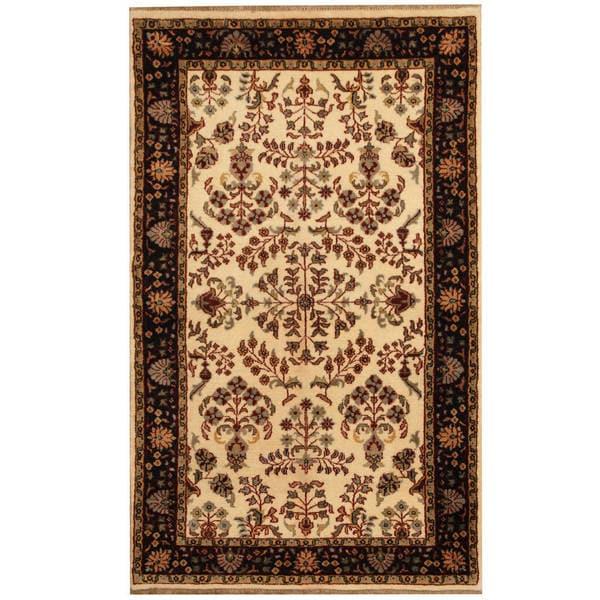 Herat Oriental Indo Hand-knotted Sarouk Wool Area Rug (3' x 5')