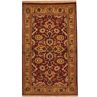 Herat Oriental Indo Hand-knotted Mahal Wool Area Rug (3' x 5')