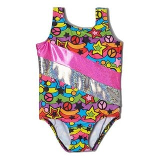 Girl Power Sport Rainbow Peace Gymnastics Leotard