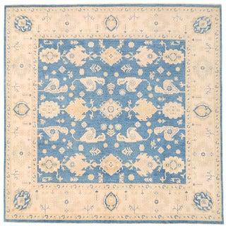Herat Oriental Afghan Hand-knotted Super Kazak Wool Rug (8'9 x 8'9)