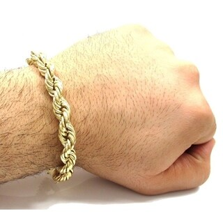 Simon Frank 14k Gold or Silver Overlay Vintage 8-Inch Rope Bracelet (2 options available)