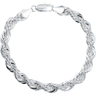 Simon Frank 14k Gold or Silver Overlay Vintage 8-Inch Rope Bracelet (Option: Silver - White)