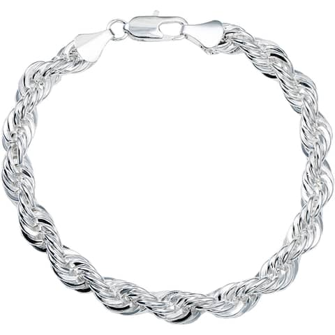 Braided 8-Inch Rope Bracelet Gold or Silver Overlay by Simon Franks Designs