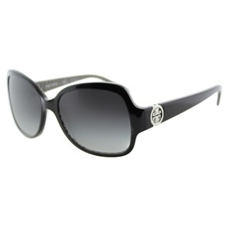 Tory Burch TY 7059 114511 Butterfly Black on Stich TY Plastic Square Grey Gradient Lens Sunglasses
