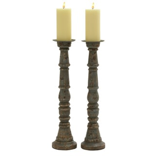 Wood Metal Candle Holder