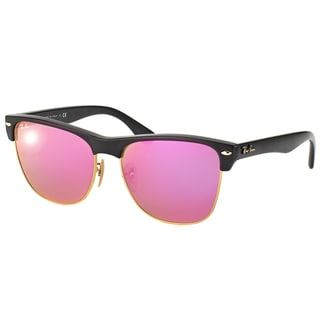 Ray-Ban Oversized Clubmaster RB 4175 877/30 Demi Shiny Black Clubmaster Plastic Sunglasses