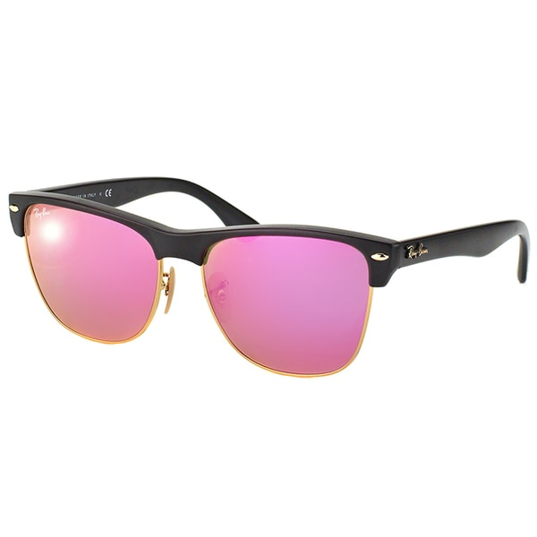 05f0ed10bed Ray-Ban Oversized Clubmaster RB 4175 877 30 Demi Shiny Black Clubmaster  Plastic Sunglasses