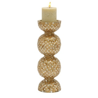 Graceful Metal Mosaic Candle Holder