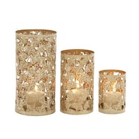 The Gray Barn Jartop Contemporary Styled Metal Candle Holder (Set of 3)