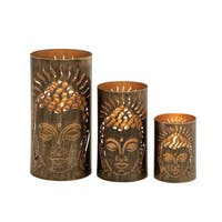 Classy Set of Three Metal Candle Holder