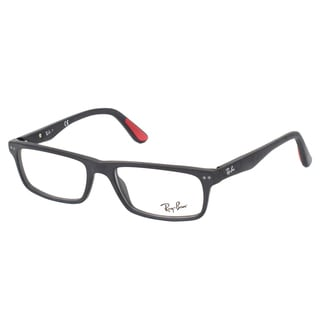 Ray-Ban RX 5277 2077 Sandblasted Black Rectangle Plastic 54mm Eyeglasses