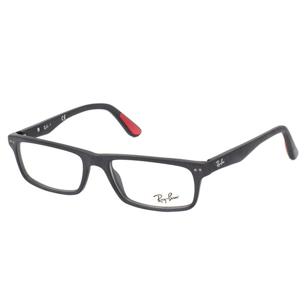 69e8319c15 Ray-Ban RX 5277 2077 Sandblasted Black Rectangle Plastic 54mm Eyeglasses