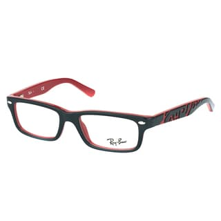 Ray-Ban RY 1535 3573 Black On Red Plastic Rectangle 46mm Eyeglasses