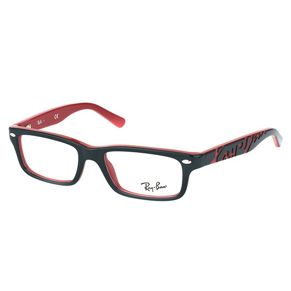 58934fb1ac1 Shop Ray-Ban RY 1535 3573 Black On Red Plastic Rectangle 48mm Eyeglasses - Free  Shipping Today - Overstock - 11829633