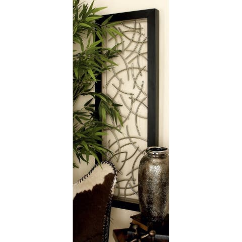 Modern 48 Inch Floating Arcs Framed Wall Panel Decor by Studio 350