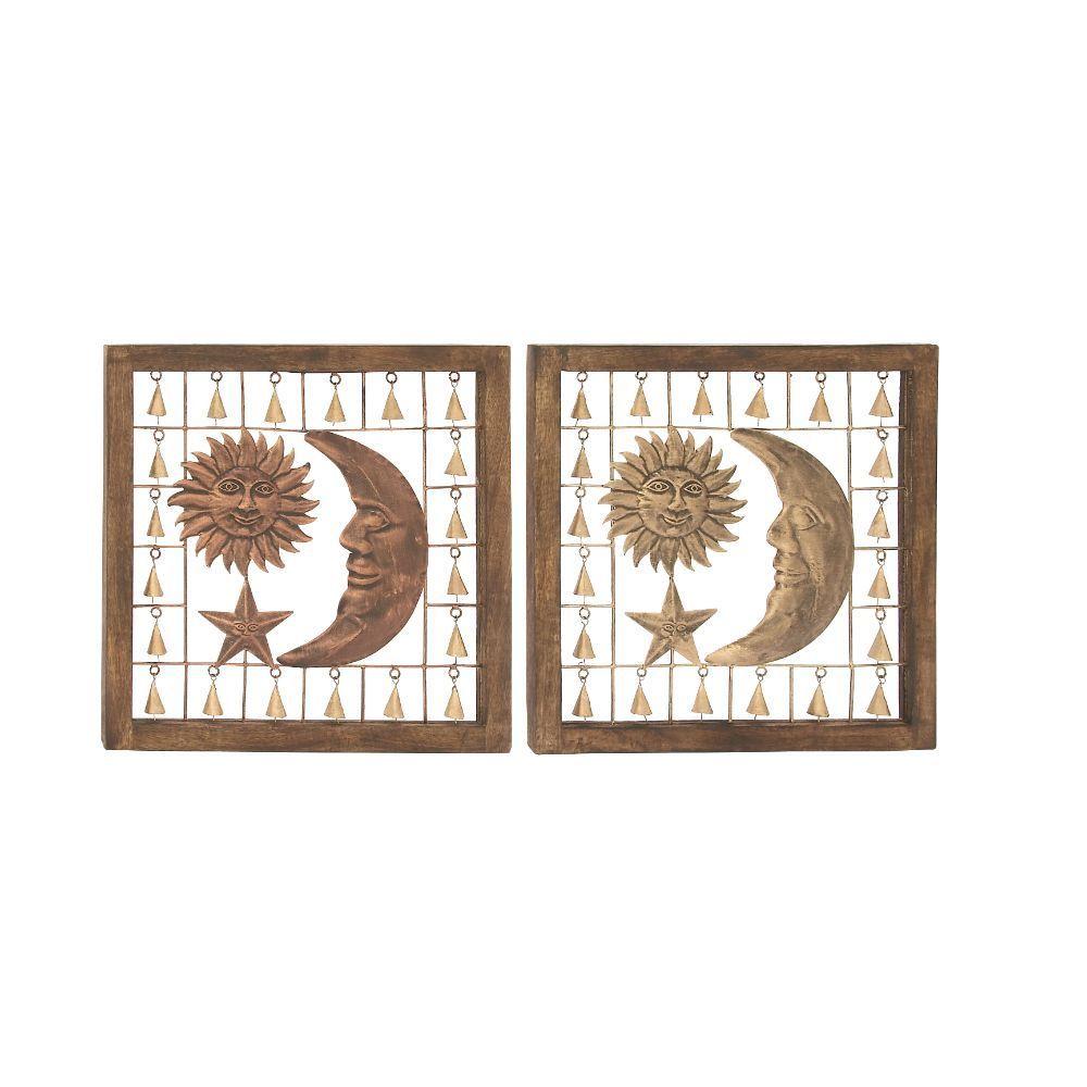 Attractive Wood Metal Wall Panel 2 Assorted (Panel)