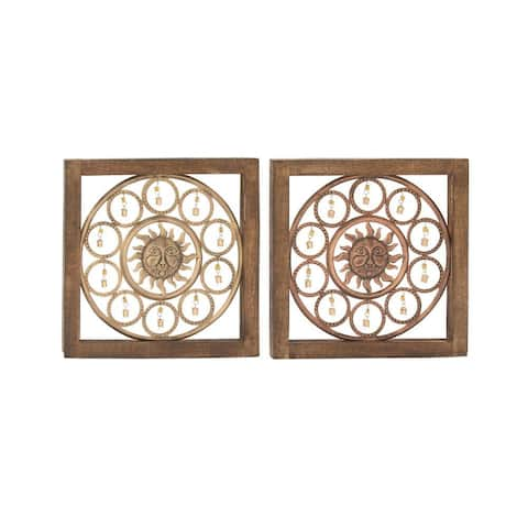 Delightful Assorted 2 Wood Metal Wall Panel