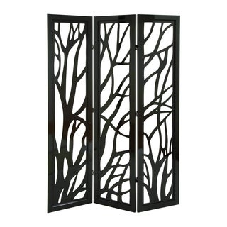 Panel Screen In Slick Brown Finish & Lightweight - (Set Of 3)