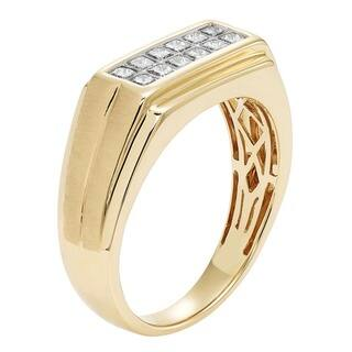 Sofia 14K Yellow Gold 1/2ct TDW Princess Cut Men's Ring|https://ak1.ostkcdn.com/images/products/11829811/P18734357.jpg?impolicy=medium