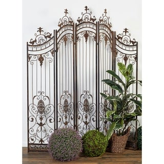 80 x 80 Traditional Metal Garden Gate w/ Ornate Scrollwork by Studio 350