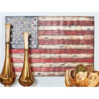 Rustic 23 x 11 Inch Wood and Metal Scroll Wall Panel by Studio 350