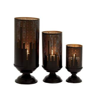Alluring Set of Three Metal Candle Holders