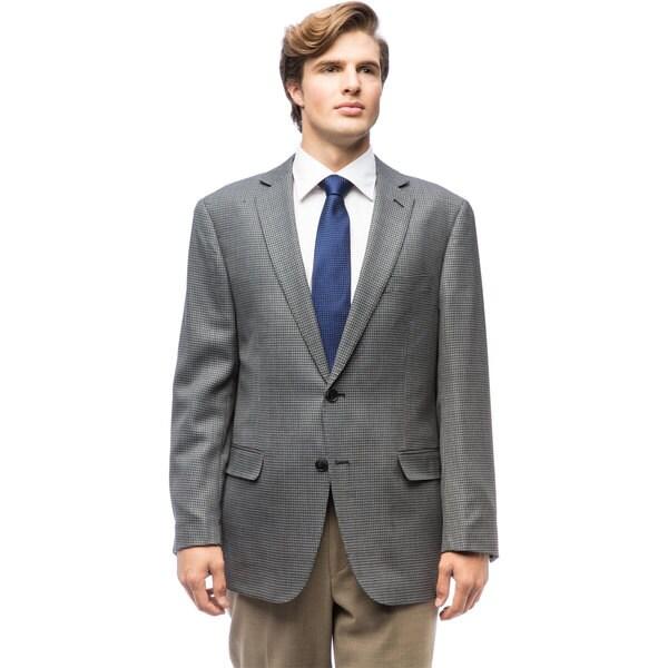 Mens Grey Check Wool Jacket