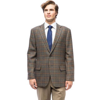 Men's Forest Green Plaid Wool Jacket