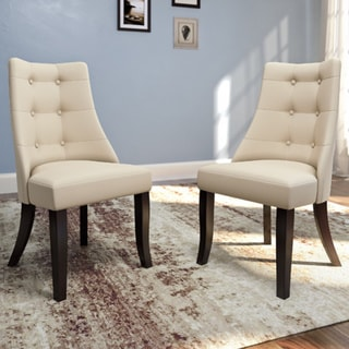 Copper Grove Krk Button-tufted Armless Dining Chairs (Set of 2) (Ivory)