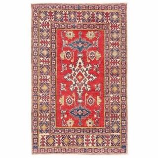 Herat Oriental Afghan Hand-knotted Kazak Wool Rug (3'5 x 5'5)