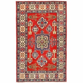 Handmade Kazak Wool Rug (Afghanistan) - 3'1 x 4'11