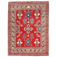 Handmade Herat Oriental Afghan Kazak Wool Rug (Afghanistan) - 3'8 x 4'10