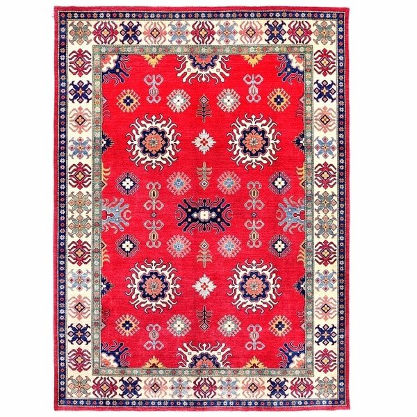 Herat Oriental Afghan Hand-knotted Kazak Wool Rug (9'2 x 12'6)