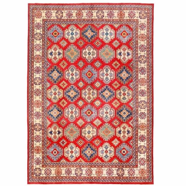 Handmade Herat Oriental Afghan Kazak Wool Rug (Afghanistan) - 10'5 x 15'4