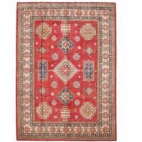 Handmade Herat Oriental Afghan Kazak Wool Rug (Afghanistan) - 9' x 12'7