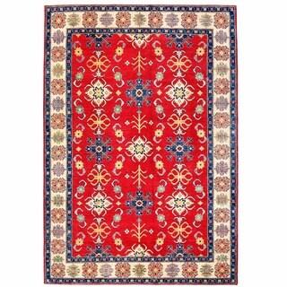 Herat Oriental Afghan Hand-knotted Kazak Red/ Ivory Wool Rug (8'9 x 12'10)